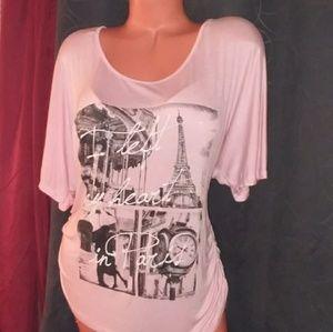 Light pink Paris top